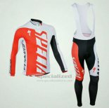 Men's Specialized RBX Comp Cycling Jersey Long Sleeve Bib Tight 2012 White Red