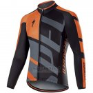 Mens Specialized RBX Comp Cycling Jersey Long SLeeve Bib Tight 2017 Orange
