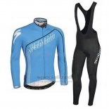 Men's Specialized SL Expert Cycling Jersey Long Sleeve Bib Tight 2016 Blue