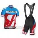 Men's Specialized RBX Sport Cycling Jersey Bib Short 2016 Blue Red