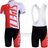 Men's Specialized RBX Comp Cycling Jersey Bib Short 2012 White Red