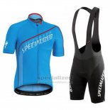 Men's Specialized SL Expert Cycling Jersey Bib Short 2016 Blue