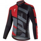 Mens Specialized RBX Comp Cycling Jersey Long SLeeve Bib Tight 2017 Red