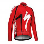 Men's Specialized RBX Comp Cycling Jersey Long Sleeve Bib Tight 2016 Red Black