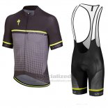 Men's Specialized SL Expert Cycling Jersey Bib Short 2018 Black Grey Green