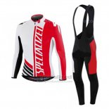 Men's Specialized RBX Sport Cycling Jersey Long Sleeve Bib Tight 2016 White Black Red
