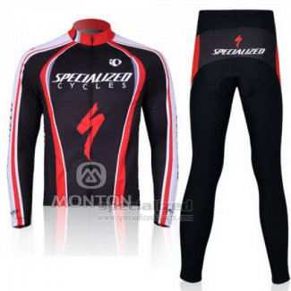 Men's Specialized RBX Comp Cycling Jersey Long Sleeve Bib Tight 2011 Red Black