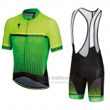 Men's Specialized SL Expert Cycling Jersey Bib Short 2018 Green Black