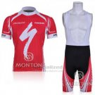 Men's Specialized RBX Comp Cycling Jersey Bib Short 2011 Red White