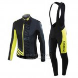 Men's Specialized RBX Sport Cycling Jersey Long Sleeve Bib Tight 2016 Black Yellow