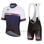 Men's Specialized SL Expert Cycling Jersey Bib Short 2018 White Deep Blue