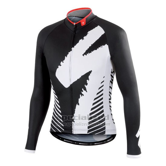 Men's Specialized RBX Comp Cycling Jersey Long Sleeve Bib Tight 2016 White Black